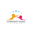 community care logo template vector image vector image
