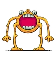 creature with big mouth vector image vector image