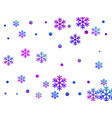 crystal snowflake and circle shapes design vector image