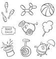 doodle circus element hand draw vector image vector image