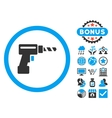 Drill Flat Icon with Bonus vector image
