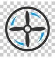 Drone Screw Rotation Icon vector image vector image
