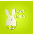 Easter bunny with a bow greeting card