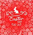 easter rabbit pink vector image vector image