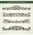 ELEMENTS PAGE DECORATION vector image vector image