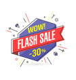 flash sale banner template in flat trendy memphis vector image vector image