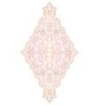 floral pink medallion for design vector image