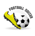 football soccer sport game to competition vector image vector image