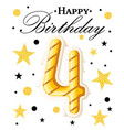 fourth year anniversary celebration design 4 year