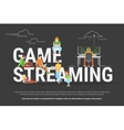 Game streaming concept vector image