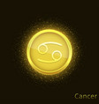 golden cancer sign vector image vector image
