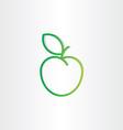 green apple icon design element vector image vector image