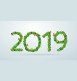 green grass 2019 new year calendar cover vector image vector image