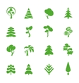 Green leaf icons set Nature ecology image vector image