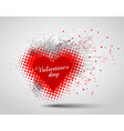 Grunge Valentines Day hart background vector image vector image