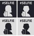 GuyGirl taking self photo icon - vector image