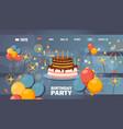 happy birthday website page design vector image vector image