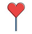 heart shape lollipop sweet dessert vector image