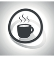 Hot drink sign sticker curved vector image
