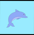 image of a blue dolphin jumping out of vector image