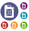 jerrycan icons set vector image vector image