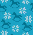 Knitted background with image of snowflakes and vector image