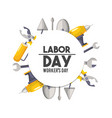 labor day national celebration symbol vector image vector image