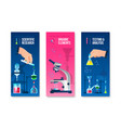 laboratory vertical banners set vector image
