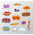 Large set of bright multi colored comic sound vector image vector image