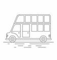 london bus line icon vector image vector image