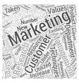 Marketing Management Word Cloud Concept