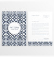 minimal business letterhead template vector image vector image
