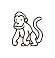 monkey con Sketch design graphic vector image