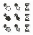 mouse cursor icons for graphic and web design vector image vector image