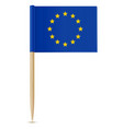 official flag european union toothpick vector image vector image