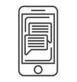 online news on smartphone screen linear icon vector image vector image