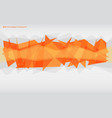 orange abstract polygonal background vector image vector image