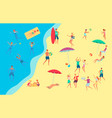 people at sea side beach concept vector image vector image