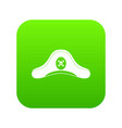 pirate hat icon digital green vector image vector image