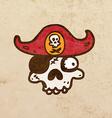 Pirate Skull Cartoon vector image vector image