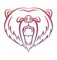 Roaring bear icon isolated on a white background vector image vector image