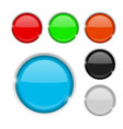 round buttons colored set 3d icons vector image vector image