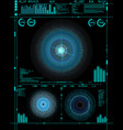 sci-fi futuristic crosshair hud user interface vector image vector image