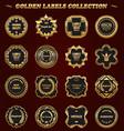 set of gold framed labels - vintage style vector image vector image