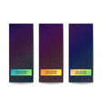 set of vivid multicolor banners vector image vector image