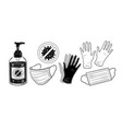 set protection items vector image vector image