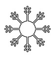 snowflake outline silhouette icon isolated vector image vector image