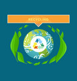 sorting trash environmental care planet vector image