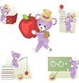 teddy bear in school vector image