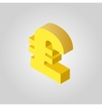 The pound sterling icon Cash and money wealth vector image vector image